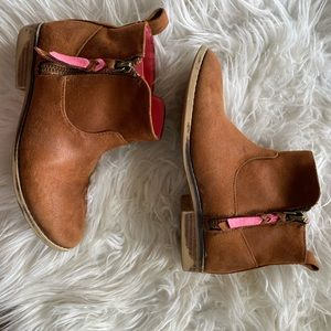 Girls Leather Booties